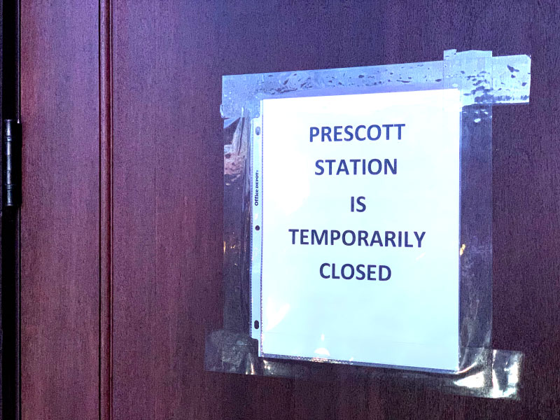 Prescott Station Closes at the Insistence of the Health Department