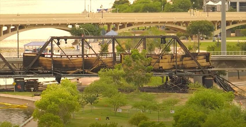 Tempe Town Lake Bridge Demolished